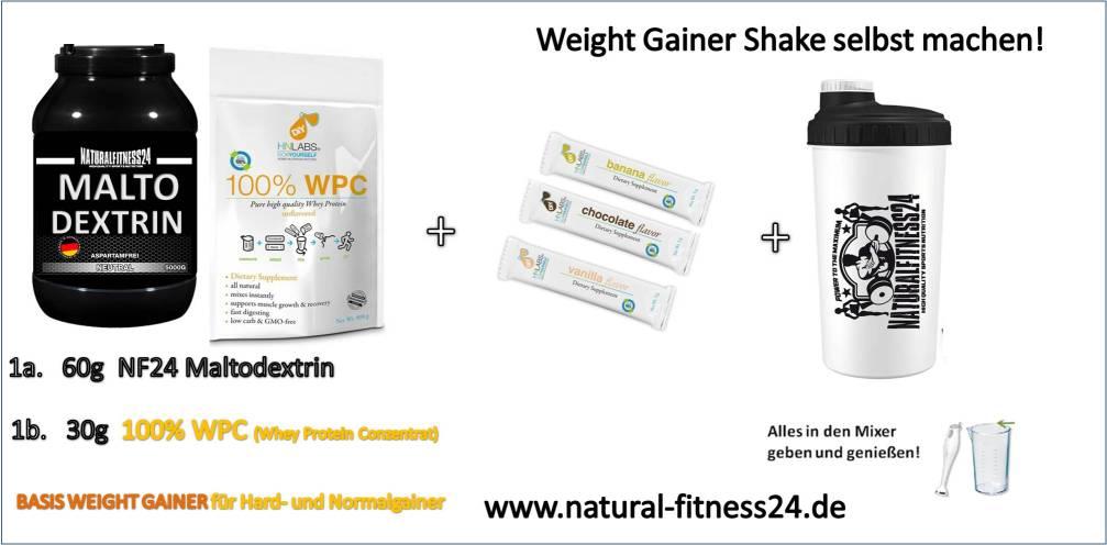 weight gainer shake für normal- und hardgainer selbst machen