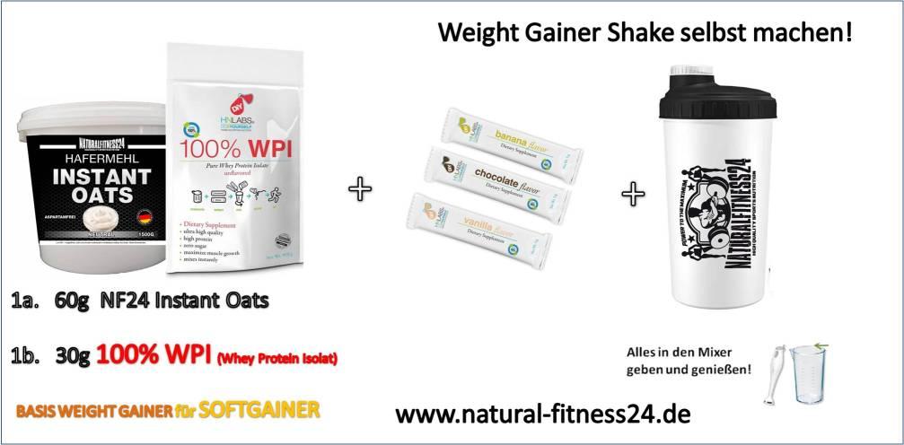 weight gainer shake für softgainer selbst machen