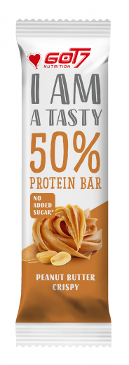 got7 50 protein bar 60g peanut butter crispy