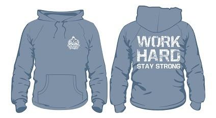 Gym Hoodie Hellblau mit weißem Aufdruck - Hoodie von NF24