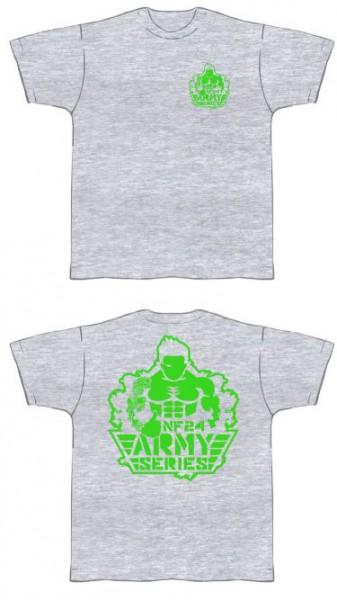 NF24 T-Shirt (Hellgrau mit Aufdruck in Neongrün) (Abbildung ähnlich)