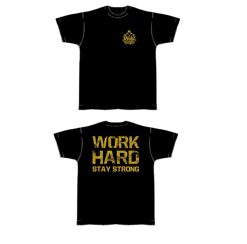 T-Shirt-schwarz-gold
