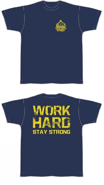 Gym Shirt Herren Navyblue mit gelbem Aufdruck - T-Shirt Fitness von NF24 (Abbildung ähnlich)