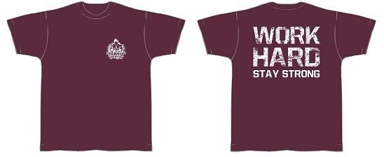 Gym Shirt Herren Bordeauxrot mit weißem Aufdruck - T-Shirt Fitness von NF24 (Abbildung ähnlich)