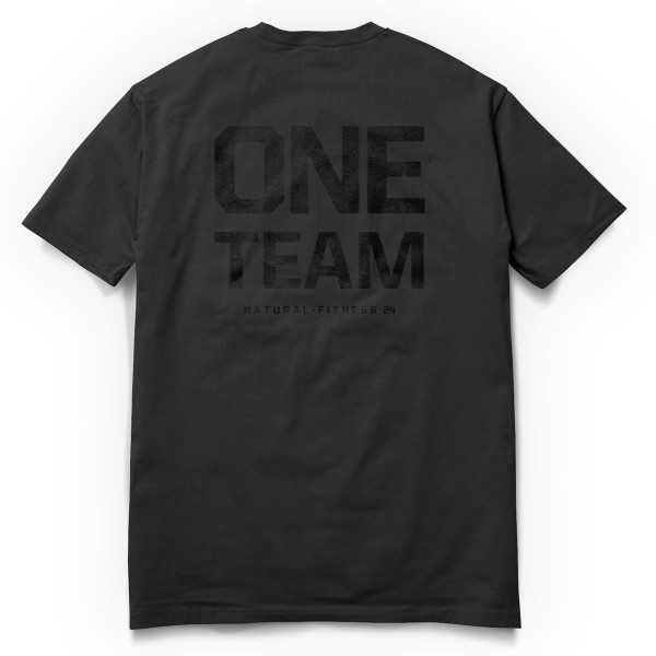 T-Shirt One Team- Gym Shirt schwarz