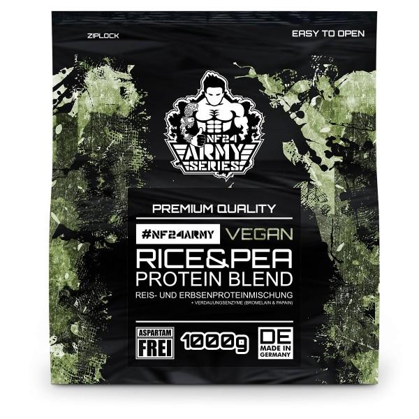 Veganes Proteinpulver NF24Army - Reis- und Erbsenproteinmischung + Verdauungsenzyme 1Kg