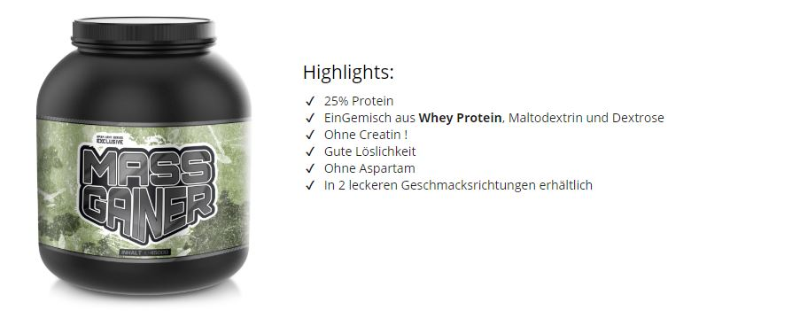 weight gainer kaufen