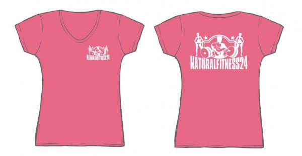 NF24 V-Shirt Lady (pink / weiss ) (Abbildung ähnlich)