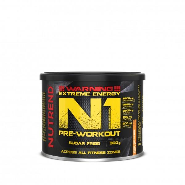 nutrend n1 pre workout booster 300g Orange