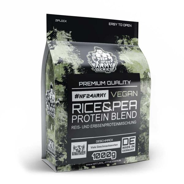 Veganes Proteinpulver NF24Army - Reis- und Erbsenproteinmischung 1Kg