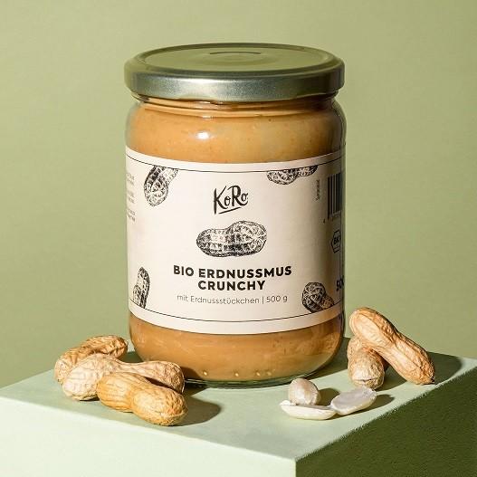 KoRo Bio Erdnussmus Crunchy 500g