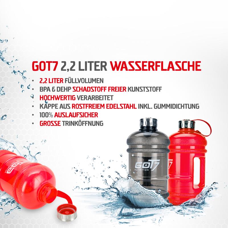 2,2l Wassergallone